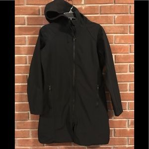 Port Authority  water resistant long hooded jacket